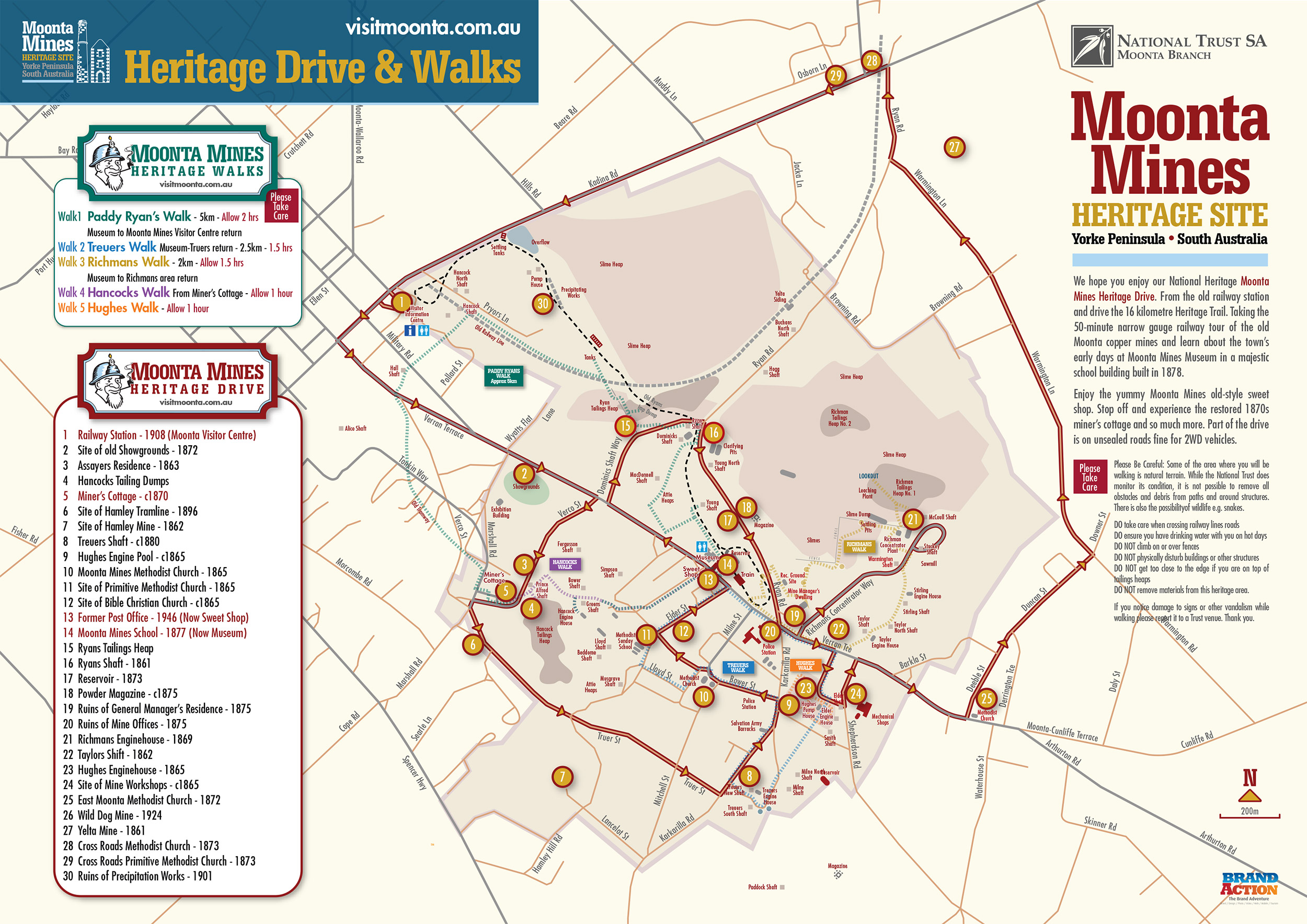 Moonta Mines Heritage Drive & Walks map